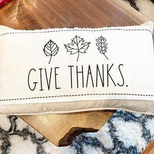 ✨ NWT Give Thanks Pillow | Rae Dunn